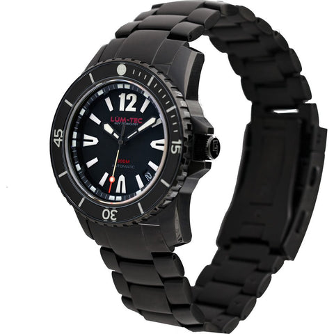 Lum-Tec 300M-2 Watch | Black PVD Strap
