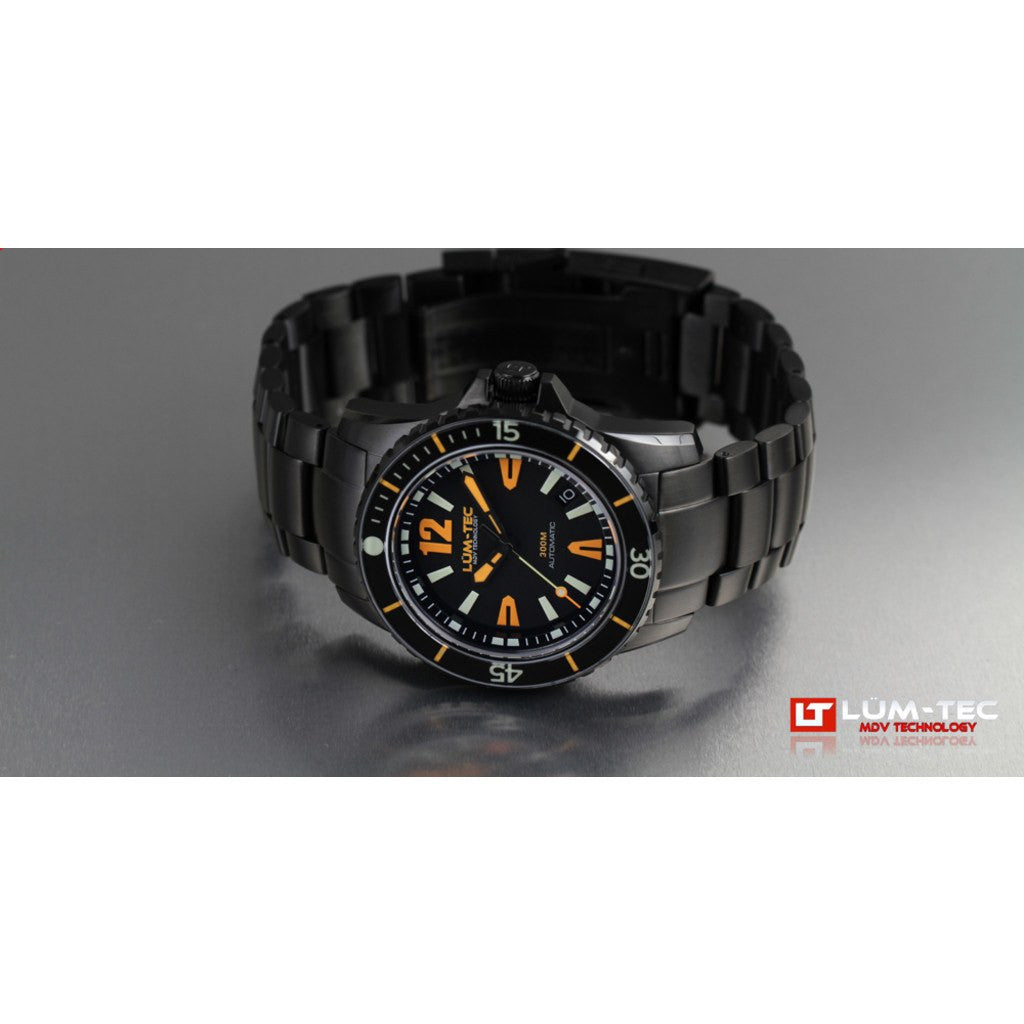 Lum-Tec 300M-3 Watch | Black PVD Strap