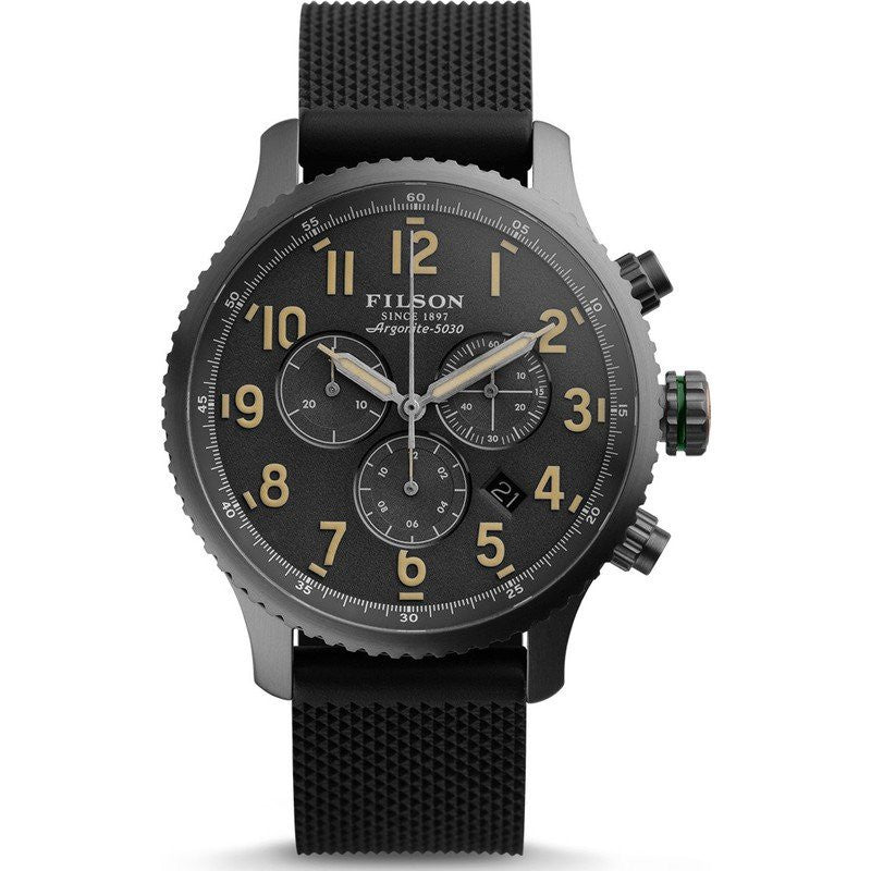 Filson Mackinaw Field 43mm Chronograph Watch | Cool Gray 10000310