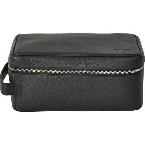 Kiko Leather Dopp Kit | Black 307