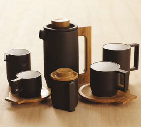 JIA Inc Purple Clay Coffee Set