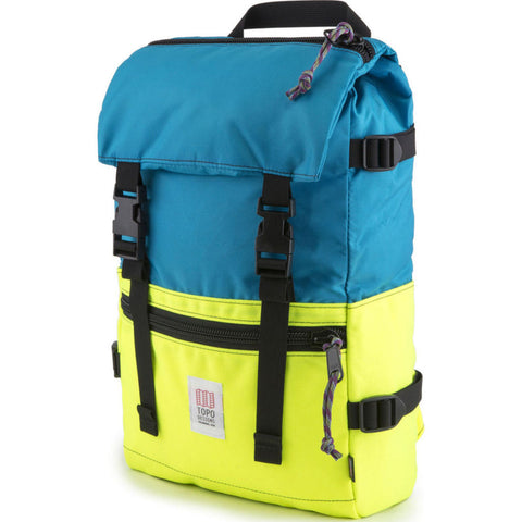 Topo Designs Rover Pack Backpack | Bright Yellow/Turquoise TDRPF17TQ/BY