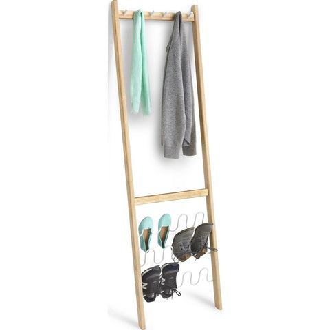 Umbra Leanera Coat & Shoe Rack | White/Natural 320371-668