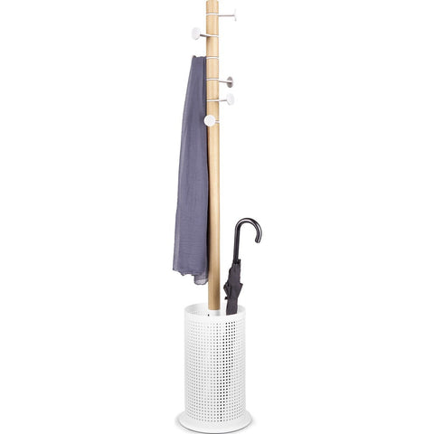 Umbra Promenade Coat Rack | White/Natural 320810-668