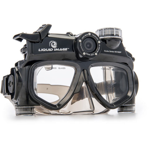 Liquid Image Model 324 1080P Wide Angle Scuba Series Dive Mask | S/M