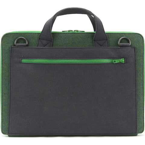 M.R.K.T. Frank Laptop Briefcase | Midnight Green/Iron 325042D