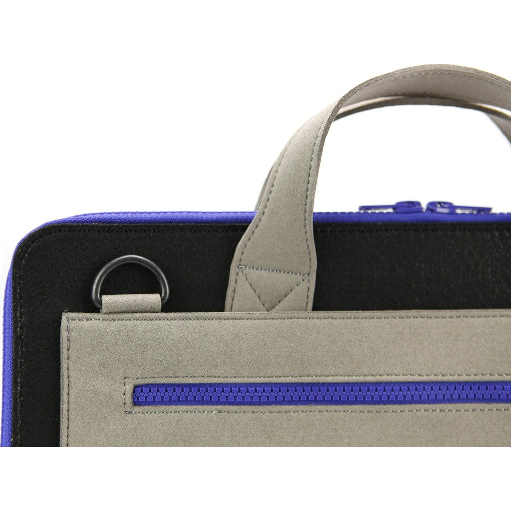 M.R.K.T. Frank Laptop Briefcase | Black/Stone Grey 325502D