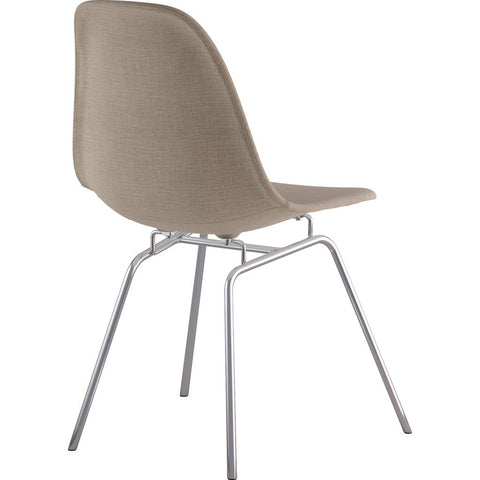 NyeKoncept Mid Century Classroom Side Chair | Light Sand/Nickel 331001CL1
