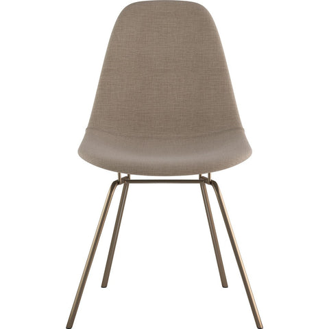 NyeKoncept Mid Century Classroom Side Chair | Light Sand/Brass 331001CL2