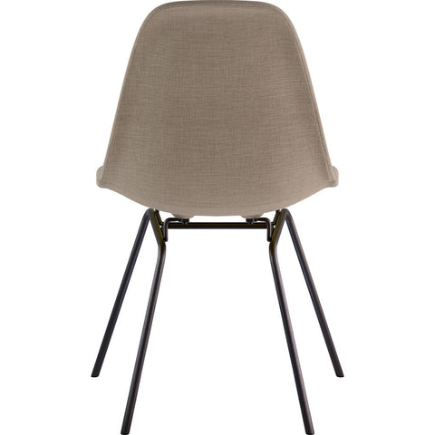 NyeKoncept Mid Century Classroom Side Chair | Light Sand/Gunmetal 331001CL3