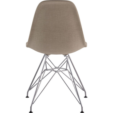 NyeKoncept Mid Century Eiffel Side Chair | Light Sand/Nickel 331001EM1