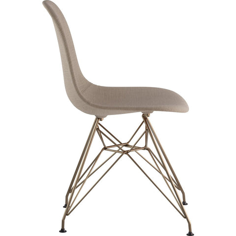 NyeKoncept Mid Century Eiffel Side Chair | Light Sand/Brass 331001EM2