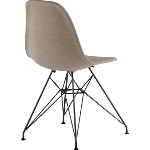 NyeKoncept Mid Century Eiffel Side Chair | Light Sand/Gunmetal 331001EM3