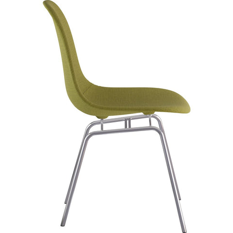 NyeKoncept Mid Century Classroom Side Chair | Avocado Green/Nickel 331002CL1