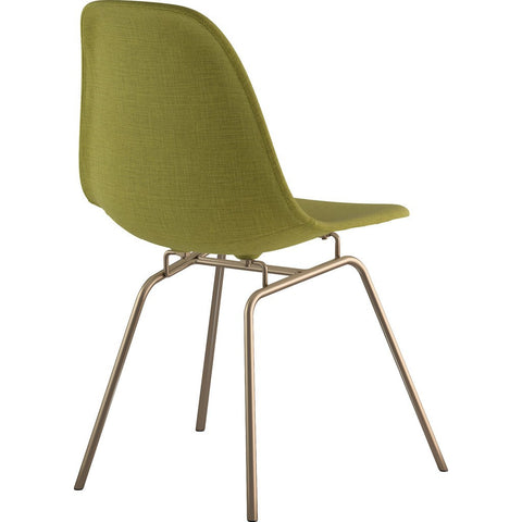 NyeKoncept Mid Century Classroom Side Chair | Avocado Green/Brass 331002CL2