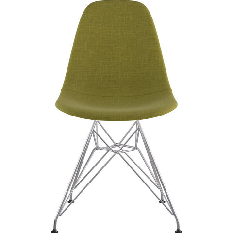 NyeKoncept Mid Century Eiffel Side Chair | Avocado Green/Nickel 331002EM1