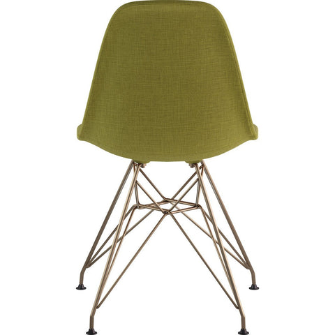 NyeKoncept Mid Century Eiffel Side Chair | Avocado Green/Brass 331002EM2