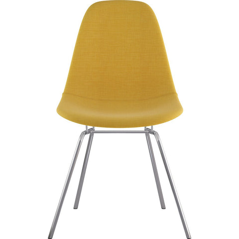 NyeKoncept Mid Century Classroom Side Chair | Papaya Yellow/Nickel 331003CL1