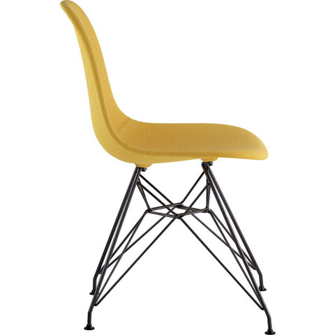 NyeKoncept Mid Century Eiffel Side Chair | Papaya Yellow/Gunmetal 331003EM3