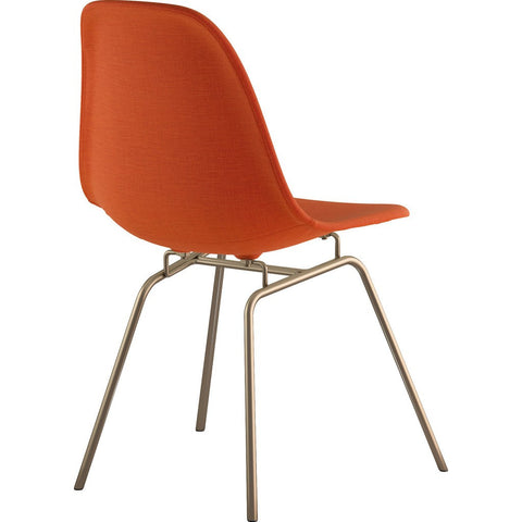 NyeKoncept Mid Century Classroom Side Chair | Lava Red/Brass 331004CL2