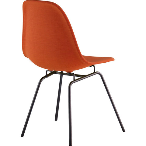 NyeKoncept Mid Century Classroom Side Chair | Lava Red/Gunmetal 331004CL3