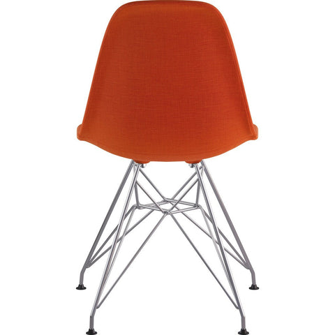 NyeKoncept Mid Century Eiffel Side Chair | Lava Red/Nickel 331004EM1