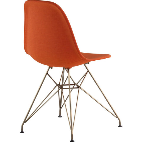 NyeKoncept Mid Century Eiffel Side Chair | Lava Red/Brass 331004EM2