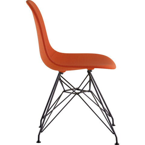 NyeKoncept Mid Century Eiffel Side Chair | Lava Red/Gunmetal 331004EM3