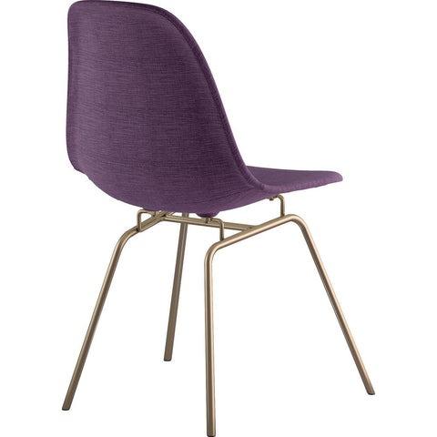 NyeKoncept Mid Century Classroom Side Chair | Plum Purple/Nickel 331005CL1