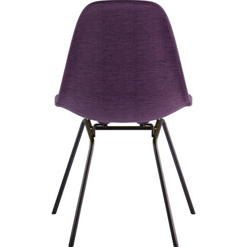 NyeKoncept Mid Century Classroom Side Chair | Plum Purple/Gunmetal 331005CL3