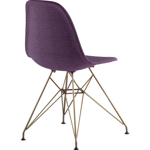 NyeKoncept Mid Century Eiffel Side Chair | Plum Purple/Brass 331005EM2