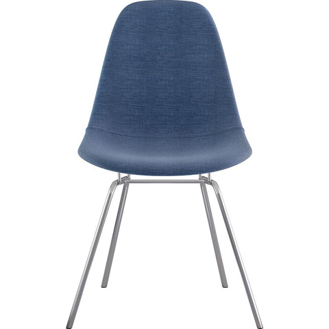NyeKoncept Mid Century Classroom Side Chair | Dodger Blue/Nickel 331006CL1