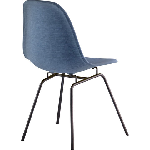 NyeKoncept Mid Century Classroom Side Chair | Dodger Blue/Gunmetal 331006CL3