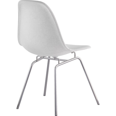 NyeKoncept Mid Century Classroom Side Chair | Glacier White/Nickel 331007CL1