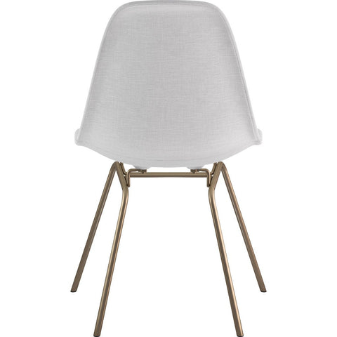 NyeKoncept Mid Century Classroom Side Chair | Glacier White/Brass 331007CL2