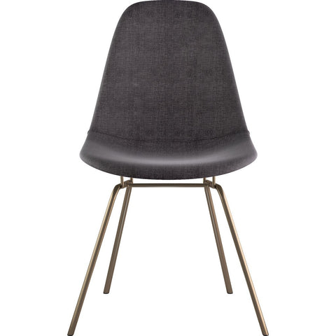 NyeKoncept Mid Century Classroom Side Chair | Charcoal Gray/Brass 331008CL2