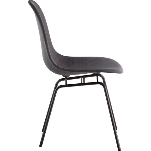 NyeKoncept Mid Century Classroom Side Chair | Charcoal Gray/Gunmetal 331008CL3