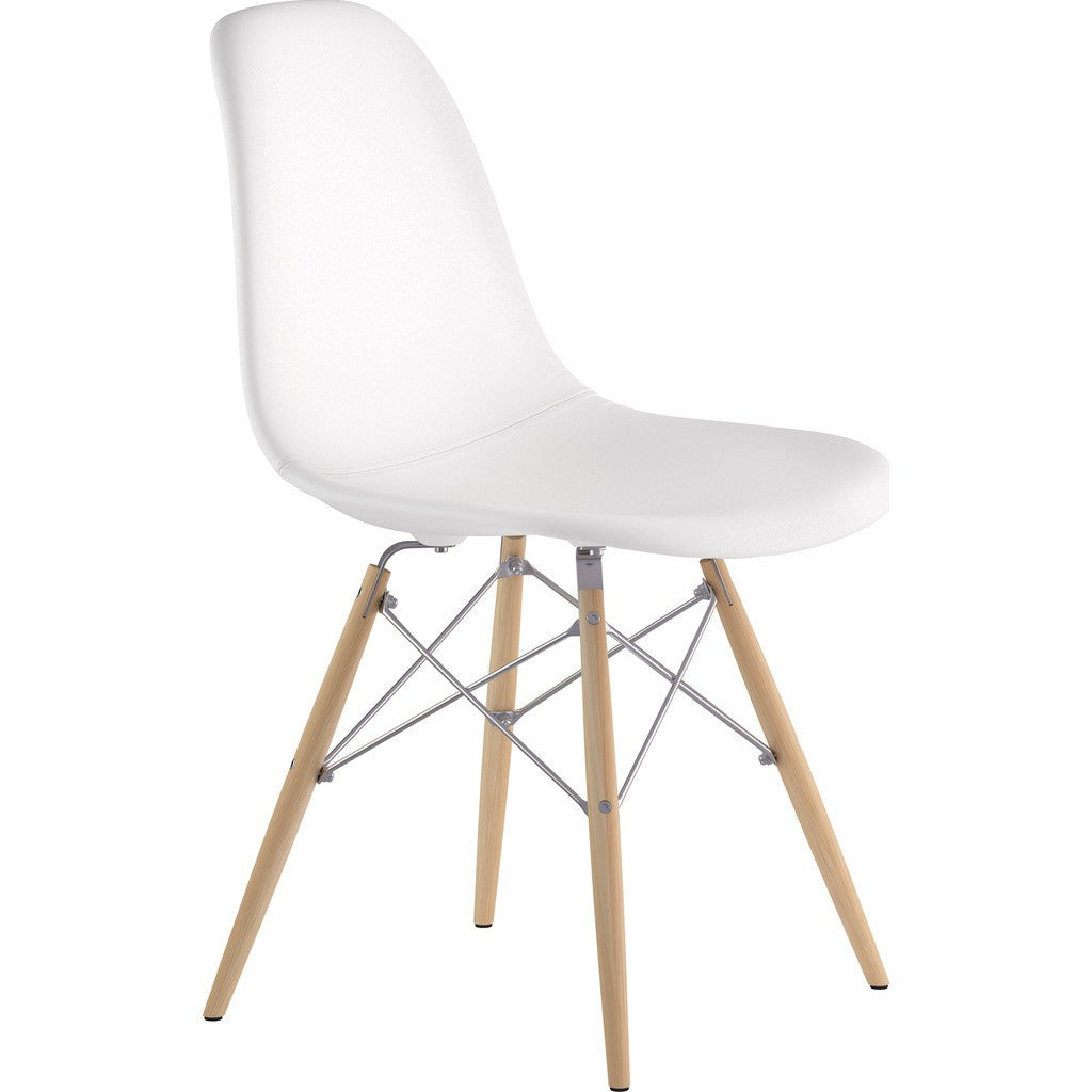 NyeKoncept Mid Century Dowel Side Chair | Milano White/Nickel 331010EW1