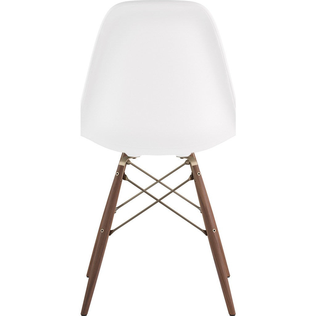 NyeKoncept Mid Century Dowel Side Chair | Milano White/Brass 331010EW2