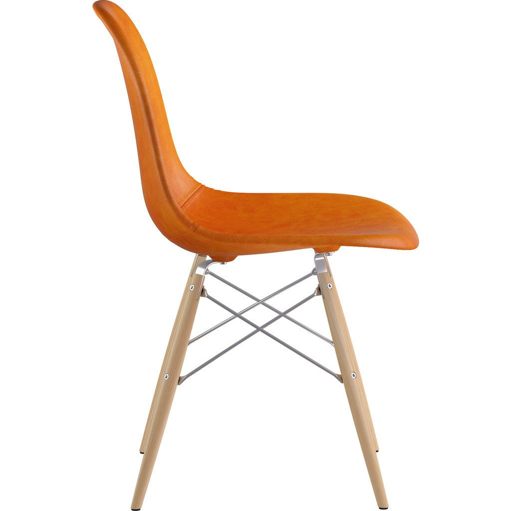 NyeKoncept Mid Century Dowel Side Chair | Burnt Orange/Nickel 331011EW1
