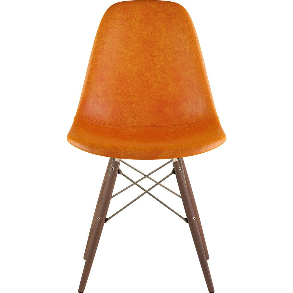 NyeKoncept Mid Century Dowel Side Chair | Burnt Orange/Brass 331011EW2