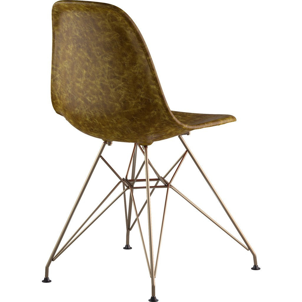 NyeKoncept Mid Century Eiffel Side Chair | Palermo Olive/Brass 331012EM2