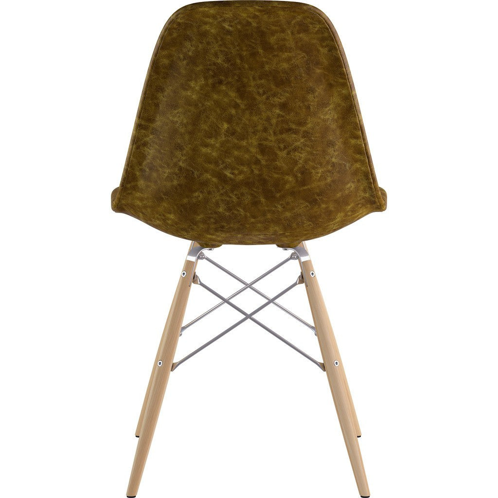 NyeKoncept Mid Century Dowel Side Chair | Palermo Olive/Nickel 331012EW1