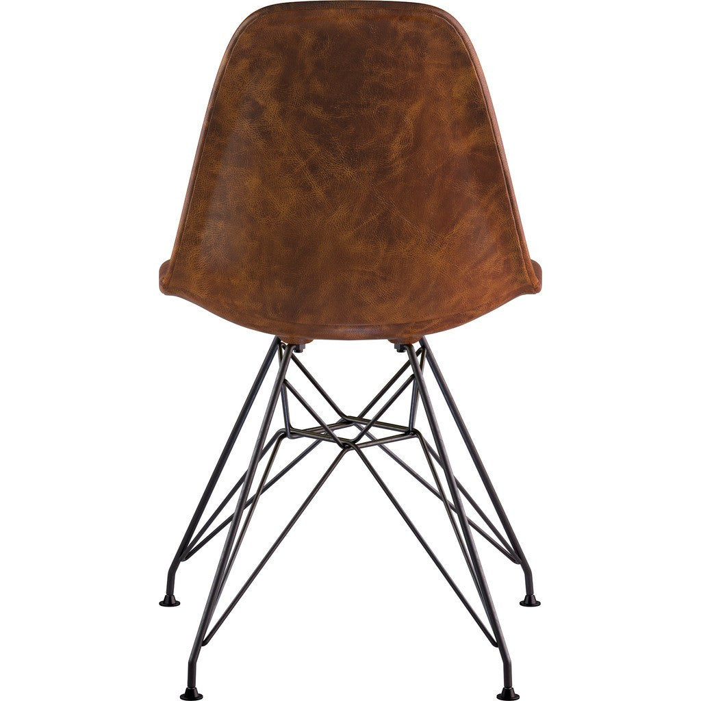 NyeKoncept Mid Century Eiffel Side Chair | Weathered Whiskey/Gunmetal 331013EM3