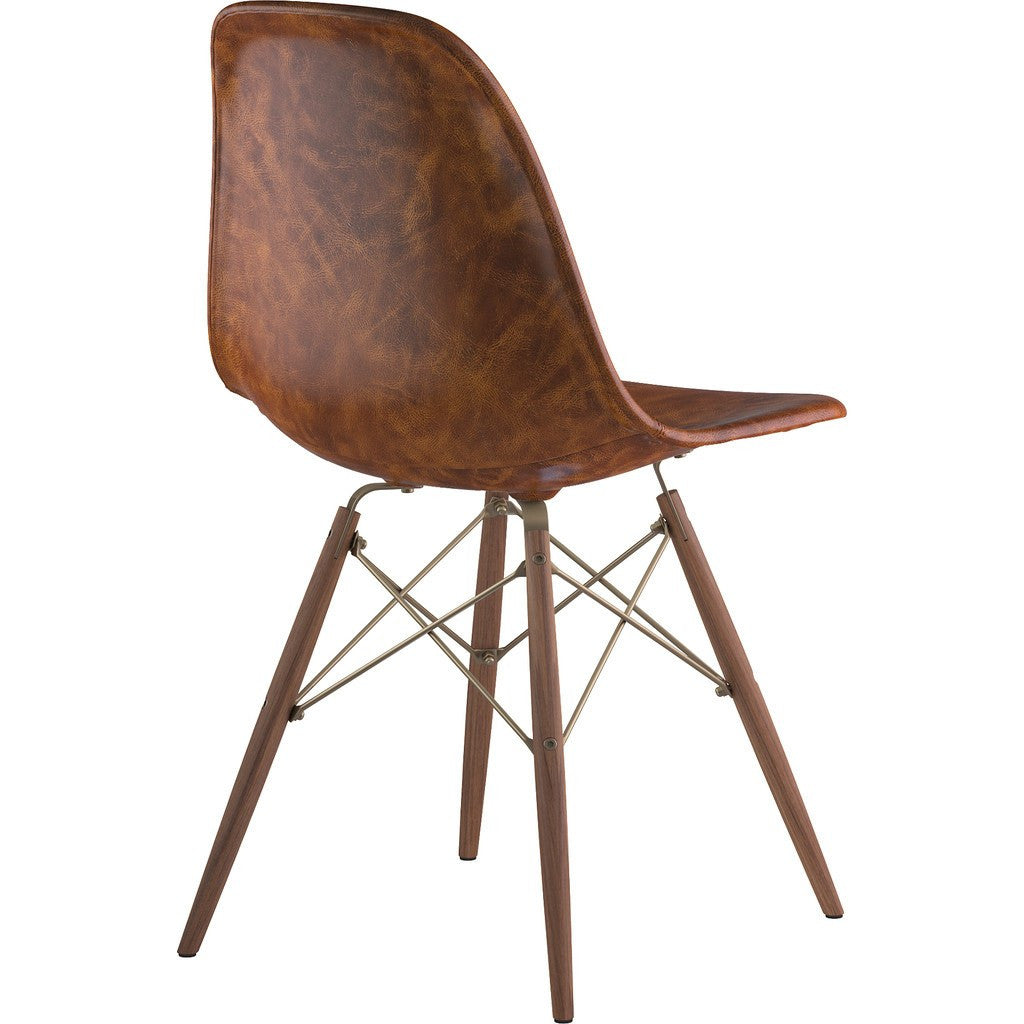 NyeKoncept Mid Century Dowel Side Chair | Weathered Whiskey/Brass 331013EW2