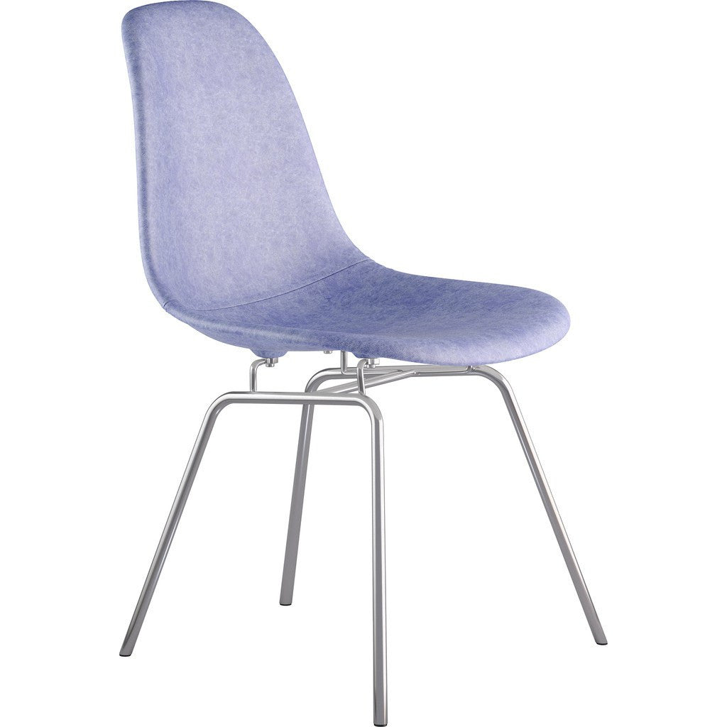 NyeKoncept Mid Century Classroom Side Chair | Weathered Blue/Nickel 331015CL1
