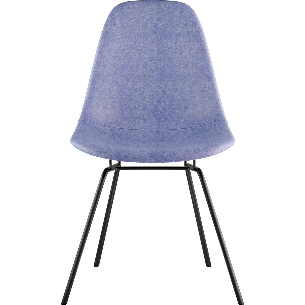 NyeKoncept Mid Century Classroom Side Chair | Weathered Blue/Gunmetal 331015CL3