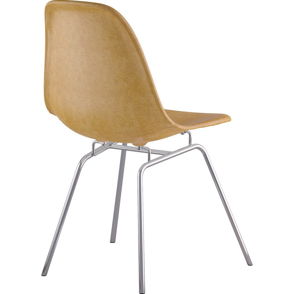 NyeKoncept Mid Century Dowel Side Chair | Weathered Blue/Gunmetal 331015EW3