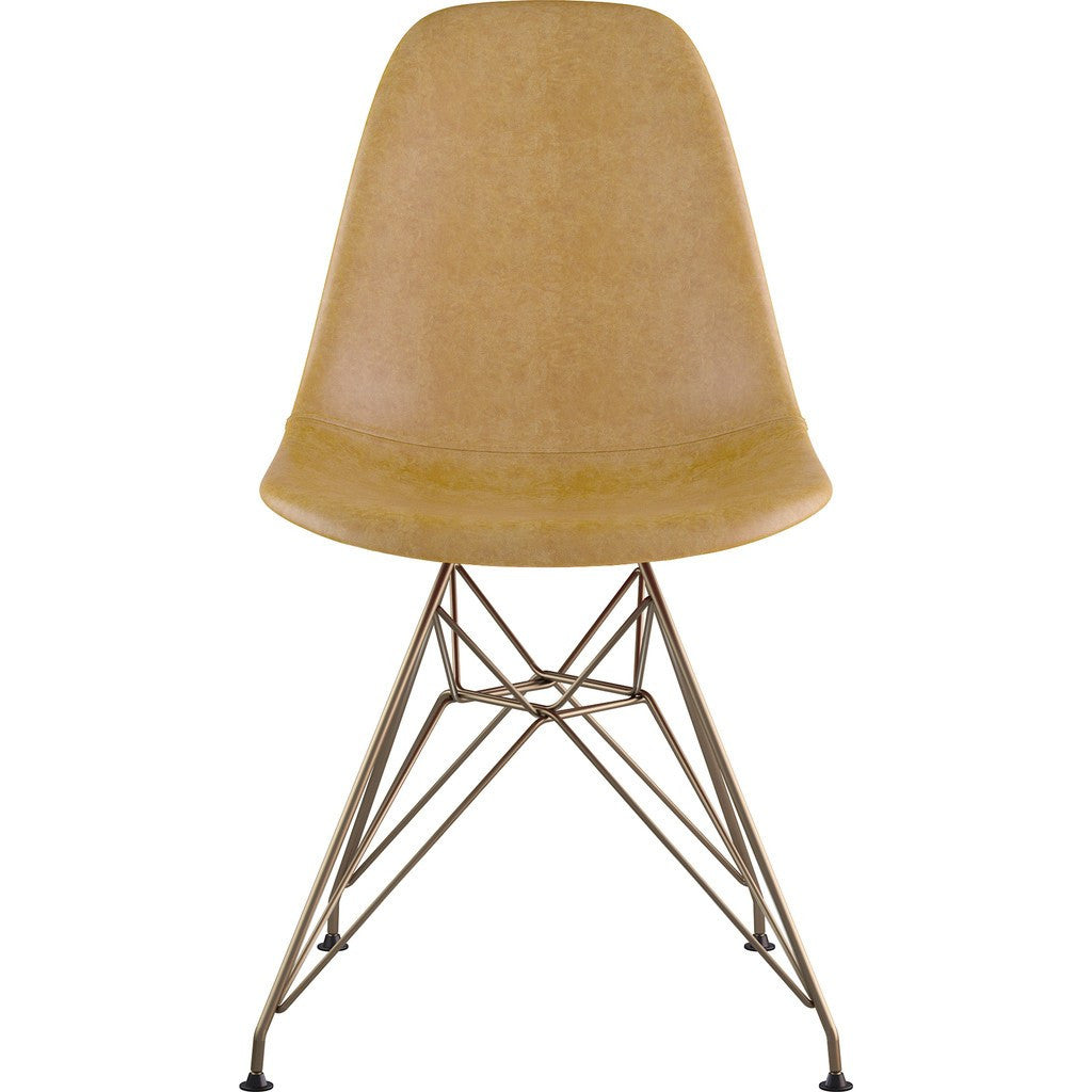 NyeKoncept Mid Century Eiffel Side Chair | Aged Maple/Brass 331016EM2 ...