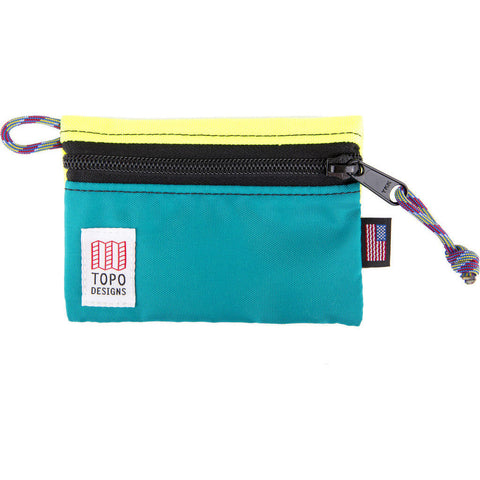 Topo Designs Micro Accessory Bag | Yellow/Turquoise TDABF17BY/TQ